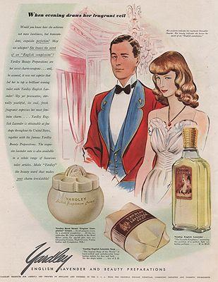 ORIG VINTAGE MAGAZINE AD/ 1941 YARDLEY LAVENDAR ADillustrator- James  Williamson - Product Image
