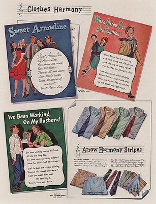 ORIG VINTAGE MAGAZINE AD/ 1942 ARROW SHIRT ADillustrator- James  Williamson - Product Image