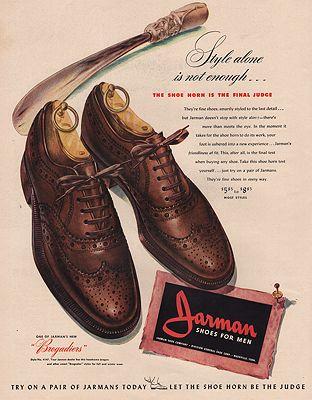 ORIG VINTAGE MAGAZINE AD/ 1942 JARMAN SHOES ADillustrator- N/A - Product Image