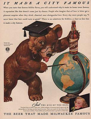 ORIG VINTAGE MAGAZINE AD/ 1942 SCHLITZ BEER ADillustrator- N/A - Product Image