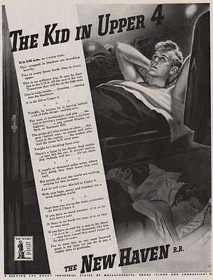 ORIG VINTAGE MAGAZINE AD/ 1943 NEW HAVEN RAILROAD ADillustrator- Edwin  Georgi - Product Image