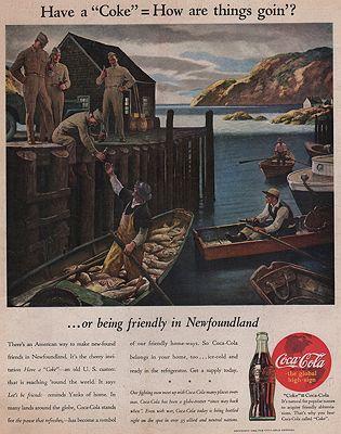 ORIG VINTAGE MAGAZINE AD/ 1944 COCA COLA ADillustrator- N/A - Product Image