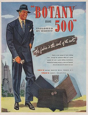 ORIG VINTAGE MAGAZINE AD/ 1946 BOTANY 500 SUIT ADillustrator- N/A - Product Image
