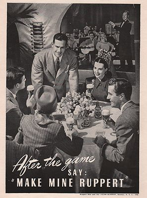 ORIG VINTAGE MAGAZINE AD/ 1946 RUPPERT BEER ADillustrator- N/A - Product Image
