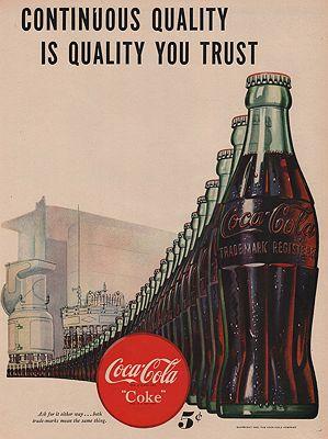 ORIG VINTAGE MAGAZINE AD/ 1947 COCA COLA ADillustrator- N/A - Product Image