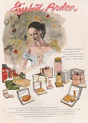 ORIG VINTAGE MAGAZINE AD/ 1947 ELIZABETH ARDEN COSMETICS ADillustrator- Rene  Bouche - Product Image