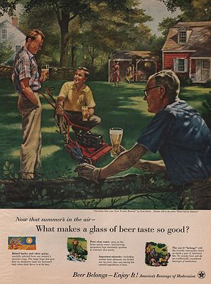 ORIG VINTAGE MAGAZINE AD/ 1955 BEER BREWERS FOUNDATIONillustrator- Fred  Siebel - Product Image