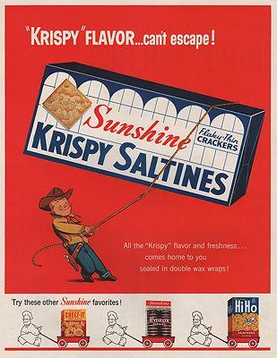 ORIG VINTAGE MAGAZINE AD/ 1956 SUNSHINE SALTINES ADillustrator- N/A - Product Image