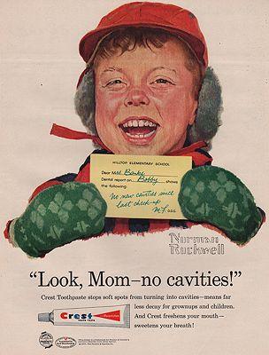 ORIG VINTAGE MAGAZINE AD/ 1957 CREST TOOTHPASTE ADillustrator- Norman   Rockwell - Product Image
