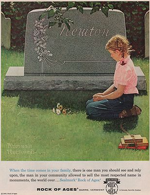 ORIG VINTAGE MAGAZINE AD/ 1964 ROCK OF AGES ADillustrator- Norman  Rockwell - Product Image