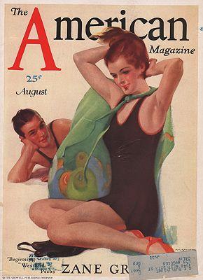 ORIG. VINTAGE MAGAZINE COVER - AMERICAN MAGAZINE - AUGUST 1931illustrator- C.E.  Chambers - Product Image