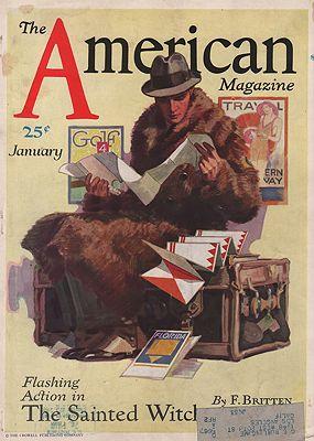 ORIG. VINTAGE MAGAZINE COVER - AMERICAN MAGAZINE - JANUARY 1931illustrator- John  Sheridan - Product Image