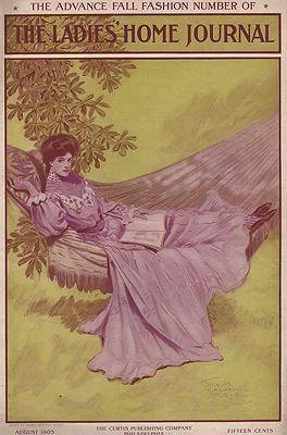 ORIG. VINTAGE MAGAZINE COVER - LADIES HOME JOURNAL - AUGUST 1905illustrator- Thomas Mitchell  Peirce - Product Image