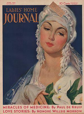 ORIG. VINTAGE MAGAZINE COVER - LADIES HOME JOURNAL - JUNE 1931illustrator- Knute O.  Munson - Product Image