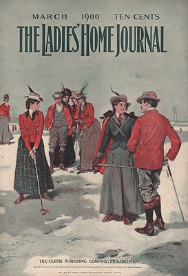 ORIG. VINTAGE MAGAZINE COVER - LADIES HOME JOURNAL - MARCH 1900illustrator- Arthur I.  Keller - Product Image