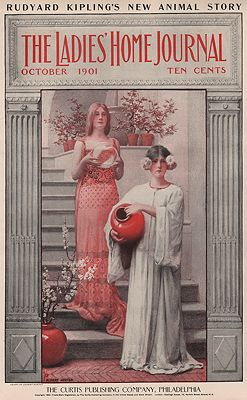 ORIG. VINTAGE MAGAZINE COVER - LADIES HOME JOURNAL - OCTOBER 1901illustrator- Albert  Herter - Product Image