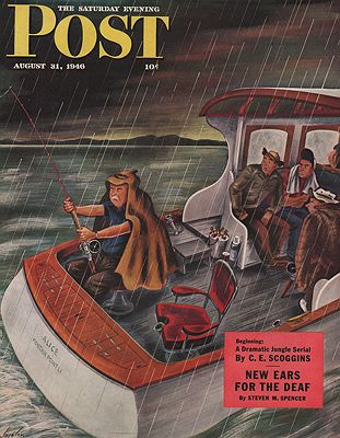 ORIG. VINTAGE MAGAZINE COVER - SATURDAY EVENING POST - AUGUST 31 1946illustrator- Constantin  Alajalov - Product Image