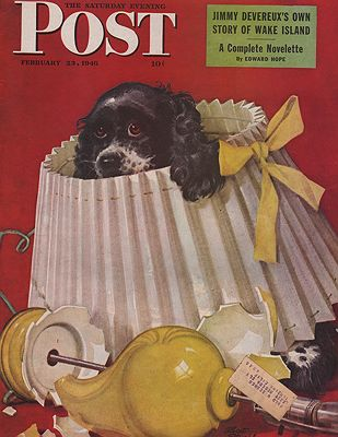 ORIG. VINTAGE MAGAZINE COVER - SATURDAY EVENING POST - FEBRUARY 23 1946illustrator- Albert  Staehle - Product Image
