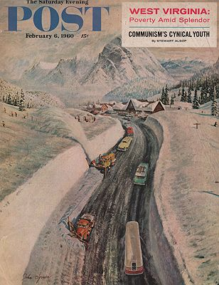 ORIG VINTAGE MAGAZINE COVER - SATURDAY EVENING POST - FEBRUARY 6 1960illustrator- John  Cylmer - Product Image