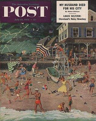 ORIG. VINTAGE MAGAZINE COVER - SATURDAY EVENING POST - JULY 10 1954illustrator- Ben  Prins - Product Image
