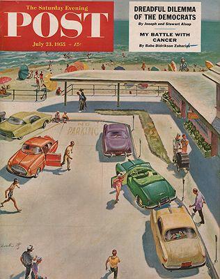 ORIG. VINTAGE MAGAZINE COVER - SATURDAY EVENING POST - JULY 23 1955illustrator- Thornton  Utz - Product Image