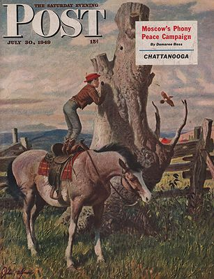 ORIG VINTAGE MAGAZINE COVER - SATURDAY EVENING POST - JULY 30 1949illustrator- John  Clymer - Product Image