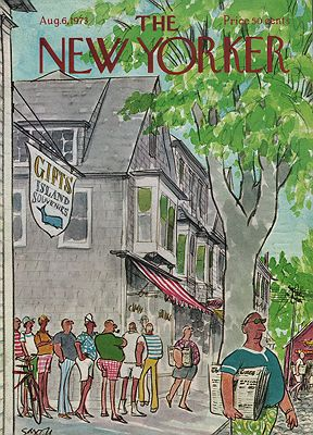 ORIG VINTAGE MAGAZINE COVER - THE NEW YORKER - AUGUST 6 1973illustrator- Charles  Saxon - Product Image