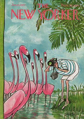 ORIG VINTAGE MAGAZINE COVER - THE NEW YORKER - JANUARY 15 1972illustrator- Charles  Saxon - Product Image