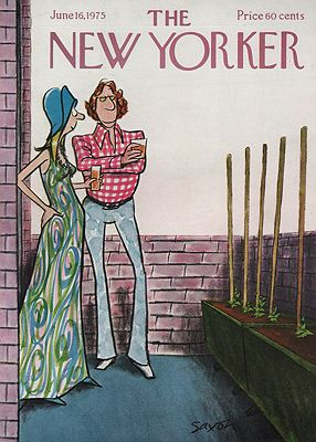 ORIG VINTAGE MAGAZINE COVER - THE NEW YORKER - JUNE 16 1975illustrator- Charles  Saxon - Product Image