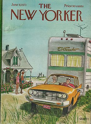 ORIG VINTAGE MAGAZINE COVER - THE NEW YORKER - JUNE 9 1973illustrator- Charles  Saxon - Product Image