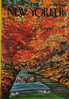 ORIG VINTAGE MAGAZINE COVER - THE NEW YORKER - OCTOBER 7 1974illustrator- Charles  Saxon - Product Image