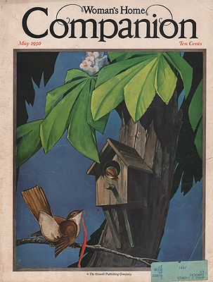 ORIG. VINTAGE MAGAZINE COVER - WOMAN'S HOME COMPANION - MAY 1930illustrator- L. V.  Carroll - Product Image
