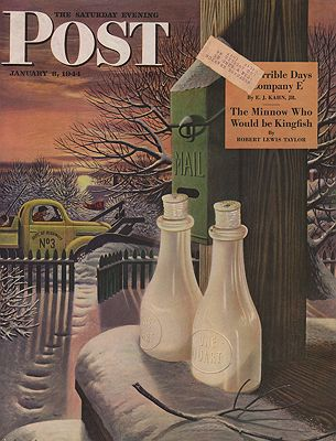 ORIG VINTAGE MAGAZINE COVER/  SATURDAY EVENING POST - JANUARY 8 1944illustrator- Stevan  Dohanos - Product Image