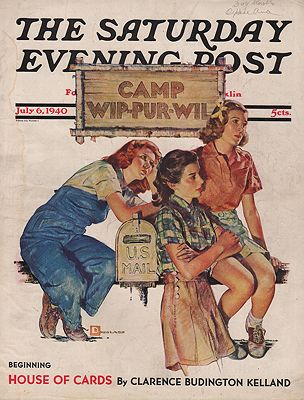ORIG VINTAGE MAGAZINE COVER/  SATURDAY EVENING POST - JULY 6 1940illustrator- Douglas  Crockwell - Product Image