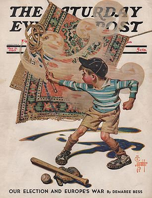 ORIG VINTAGE MAGAZINE COVER/  SATURDAY EVENING POST - MAY 11 1940illustrator- J.C.  Leyendecker - Product Image