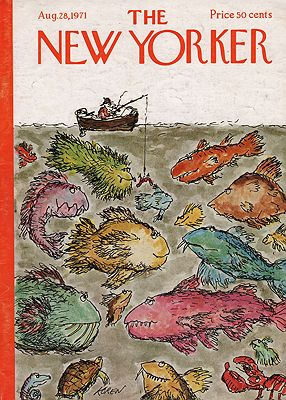 ORIG VINTAGE MAGAZINE COVER/  THE NEW YORKER - AUGUST 28 1971illustrator- Ed  Koren - Product Image