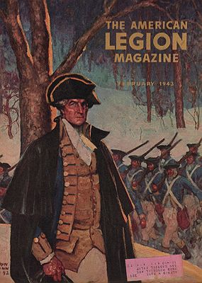 ORIG VINTAGE MAGAZINE COVER/ AMERICAN LEGION MAGAZINE - FEBRUARY 1943illustrator- Harvey  Dunn - Product Image