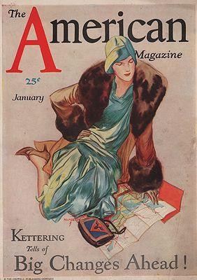 ORIG VINTAGE MAGAZINE COVER/ AMERICAN MAGAZINE - JANUARY 1925illustrator- John  Holmgren - Product Image