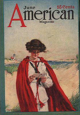 ORIG VINTAGE MAGAZINE COVER/ AMERICAN MAGAZINE - JUNE 1913illustrator- John  Rae - Product Image