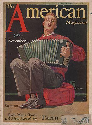 ORIG VINTAGE MAGAZINE COVER/ AMERICAN MAGAZINE - NOVEMBER 1931illustrator- John  Sheridan - Product Image