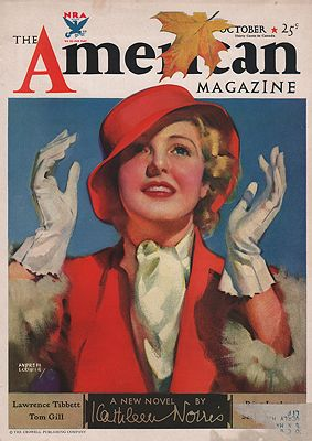 ORIG VINTAGE MAGAZINE COVER/ AMERICAN MAGAZINE - OCTOBER 1933illustrator- Andrew  Loomis - Product Image