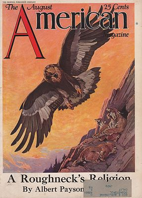 ORIG VINTAGE MAGAZINE COVER/ AMERICAN MAGAZINE AUGUST 1920Sillustrator- Lynn Bogue  Hunt - Product Image