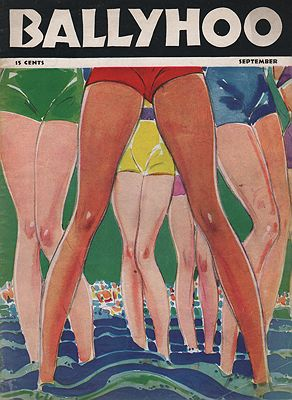 ORIG VINTAGE MAGAZINE COVER/ BALLYHOO - SEPTEMBER 1937illustrator- Russell  Patterson - Product Image