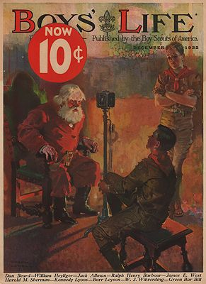 ORIG VINTAGE MAGAZINE COVER/ BOYS LIFE - DECEMBER 1932illustrator- Orson  Lowell - Product Image
