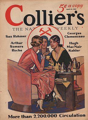 ORIG VINTAGE MAGAZINE COVER/ COLLIERS - APRIL 12 1930illustrator- Herbert  Paus - Product Image