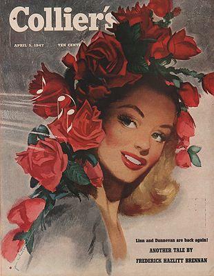 ORIG. VINTAGE MAGAZINE COVER/ COLLIER'S - APRIL 5 1947illustrator- Jon  Whitcomb - Product Image