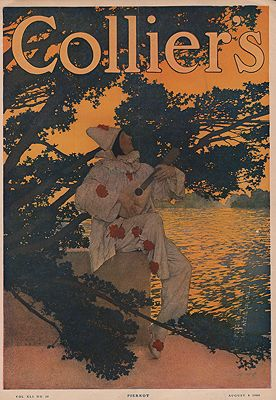 ORIG VINTAGE MAGAZINE COVER/ COLLIERS - AUGUST 8 1908illustrator- Maxfield  Parrish - Product Image