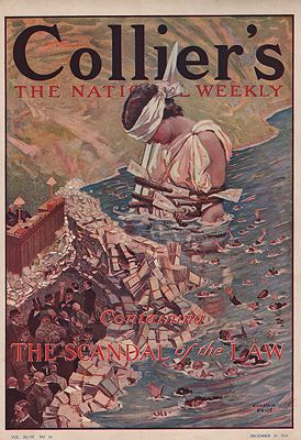 ORIG VINTAGE MAGAZINE COVER/ COLLIERS - DECEMBER 23 1911illustrator- Norman  Price - Product Image