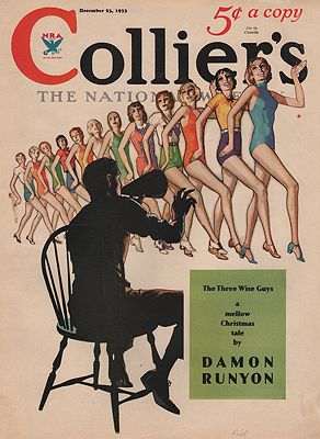 ORIG VINTAGE MAGAZINE COVER/ COLLIER'S - DECEMBER 23 1933illustrator- Robert O.  Reid - Product Image