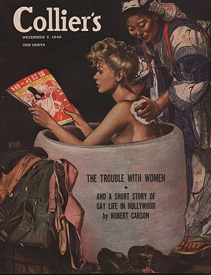 ORIG VINTAGE MAGAZINE COVER/ COLLIER'S - DECEMBER 7 1946illustrator- Martha  Sawyers - Product Image